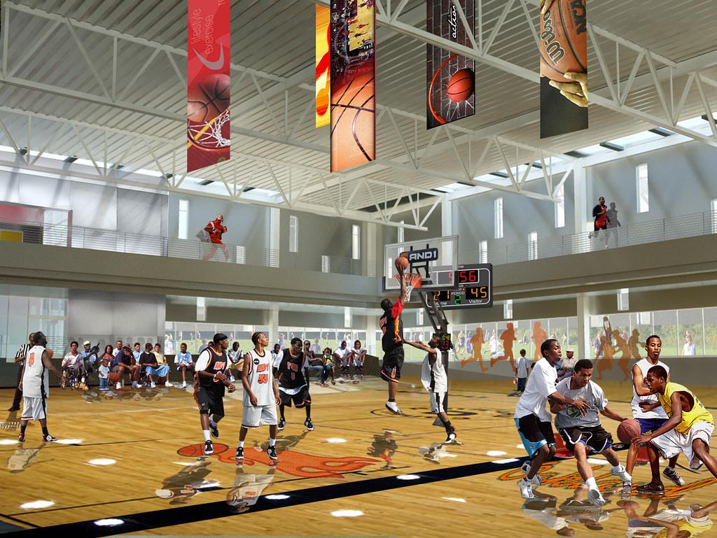 Oakland Arena Basketball Hall