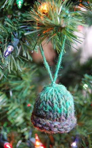 tunisian mini hat christmas ornament