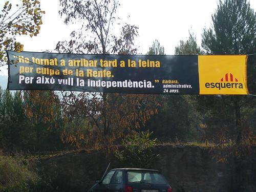 Pancarta Esquerra 20minutos