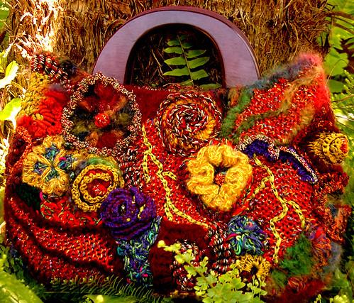 freeform floral bag by Prudence