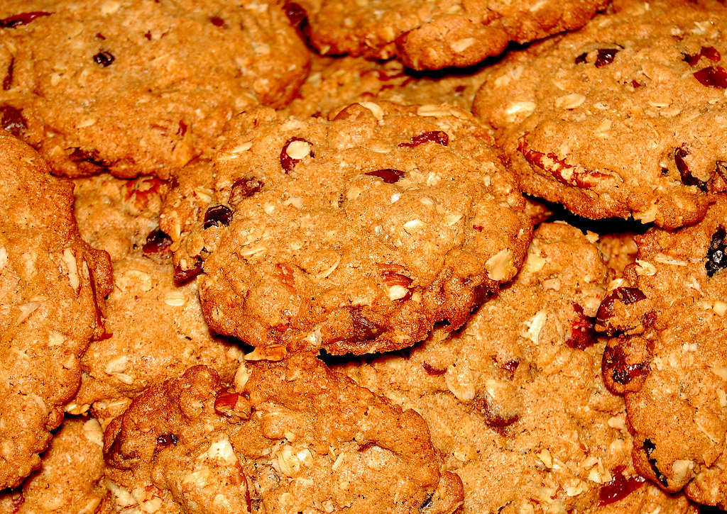 Cranberry Oatmeal Chocolate Chunk Pecan Cookies