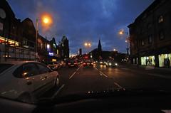 University Road at dusk