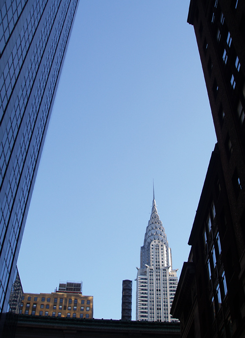 composition with the Chrysler Building, NYC