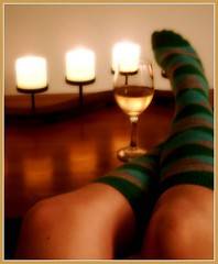 Day 52 - Time to Relax (bellawaves) Tags: feet socks relax legs wine sp candlelight 365 day52 365days 365icon futab gtwl 365icon374