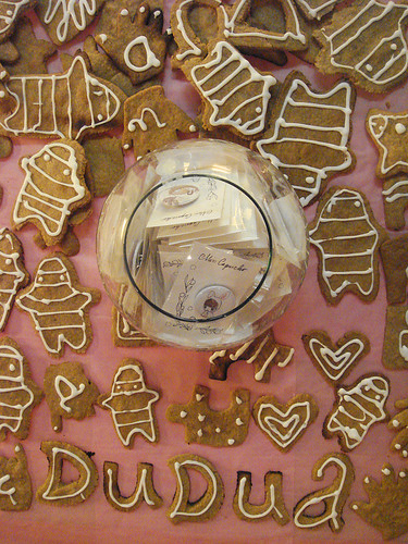 Ginger cookies for MK's exhibition