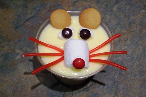 Rat Pudding Cup Snack