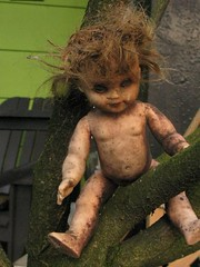 Scary Guardian Doll (prima seadiva) Tags: stilllife found scary doll odd oddities guardian lostfound personalfavorites everythingwillbeok