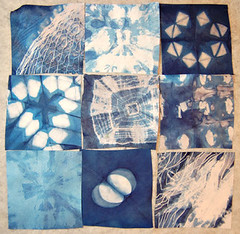 indigo shibori 9 patch