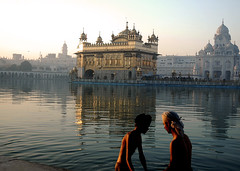 Holy dip (Koshyk) Tags: morning temple golden faith devotion sikh punjab devotees dip amritsar goldentemple sriharmandirsahib khalsa sarovar golddragon mywinners gursikh amritsarivar