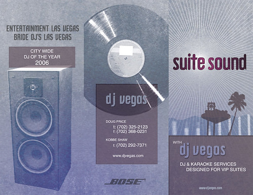Suite Sound Brochure Design for DJ Vegas, Outside