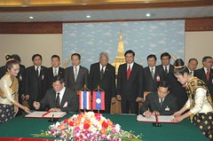 Thai PM visit Laos