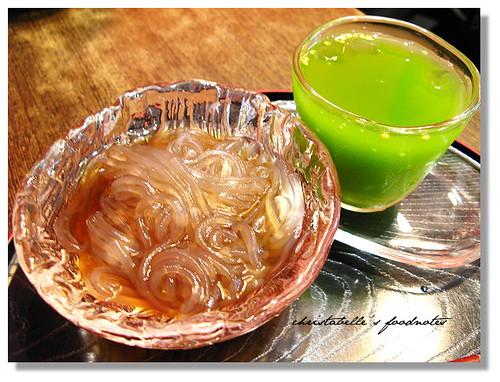 仟軒茶屋飯後甜點葛粉與凍抹茶