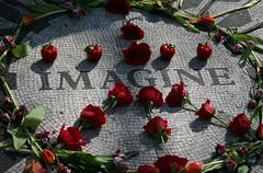 Just Imagine.... (MC's Camra) Tags: nyc flowers roses newyork art memorial centralpark manhattan beatles lennon johnlennon strawberryfields