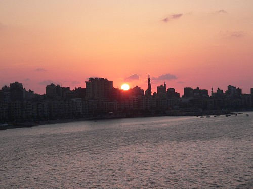 Solnedgang i Alexandria