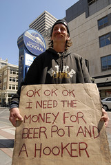 $ 4 Beer Pot and A Hooker (taminsea) Tags: seattle street people money classic public beer downtown strangers streetphotography stranger nike pot wa monorail ok hooker repost copyrighted taminsea tamelawolff tamelajwolff tamelajwolffphotography