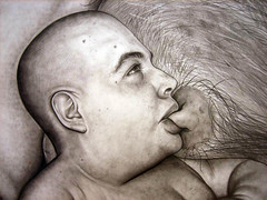 groom close up 1 (russell.dempster) Tags: hairy baby art closeup pencil groom nipple russell drawing glasgow fc dempster teat suckling dribbling russelldempster