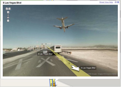 Airplane landing - Google Street View