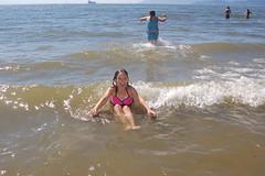 Splash zone (Derek K. Miller) Tags: ocean sea summer sun beach vancouver marina waves daughters fave englishbay stanleypark 2008 thirdbeach missm missl marinamiller 2008fave