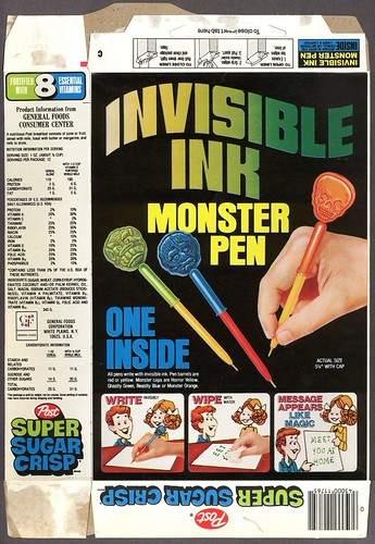 Super Sugar Crisp - Invisible Ink Monster Pens