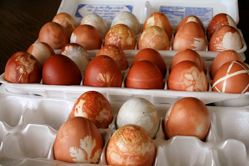 Natural Dyed Easter Eggs.
