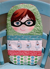Boy Hot Water Bottle Cover (Swede-Heart) Tags: goldfish handmade sewing quilting babushka hotwaterbottlecover russiandoll denyseschmidt fleamarketfancy babushkadoll heatherross bottlecover ooshka katiejumprope fishfabric patchworkdoll