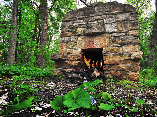 Historic Hoyt Park Fireplace