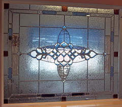 Interior Leaded, Beveled Wall Panel.