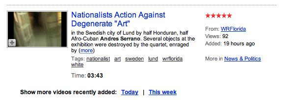 Nationalists Action Against Degenerate Art