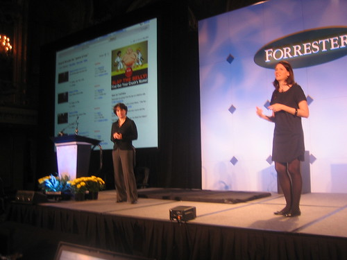 Christine Overby and Carrie Johnson at Forrester Consumer Forum 2007