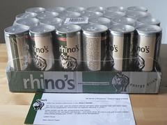 24 Dosen rhino's energy drink