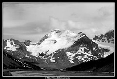 Mt Athabasca (Mike Wood Photography) Tags: bw terrain mountain snow canada ice landscape eos glacier alberta arr breathtaking aweinspiring allrightsreserved jaspernationalpark columbiaicefield icefieldsparkway magestic mikewood 400d mikewoodphotographycom mikewoodphotography mwptrav