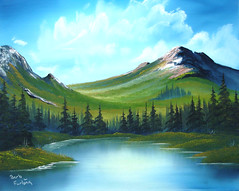 Mtn Ridge Lake #209 oil painting (paintwithbarb) Tags: art painting landscapes seascapes wildlife barbara oil barb florals furlong wwao paintwithbarb