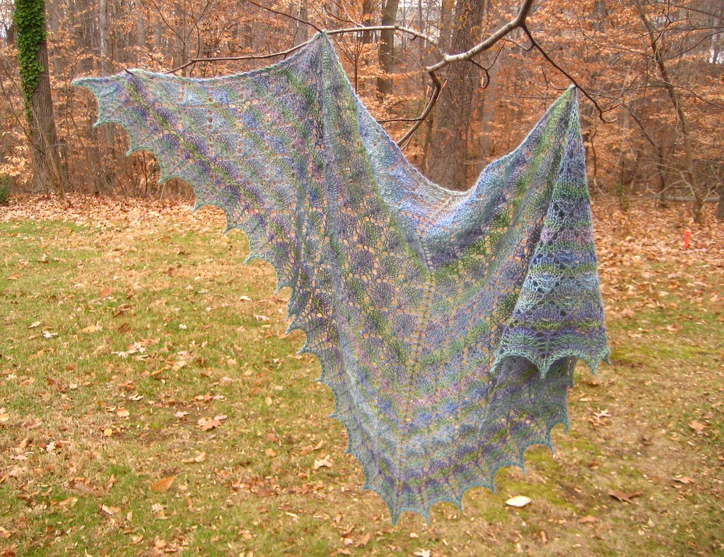 Forest Canopy Shoulder Shawl Done