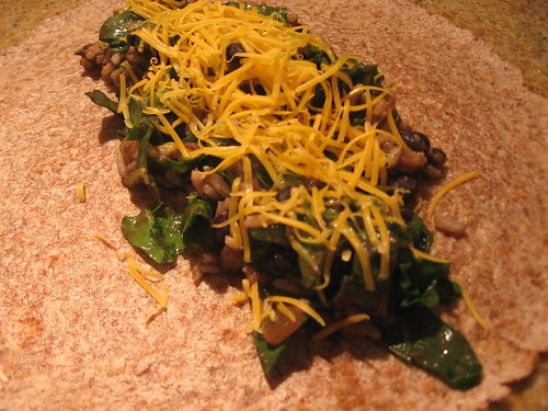 Spinach & Black Bean Burrito