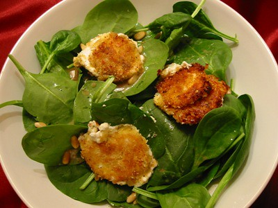 Dulcedo: fried goat cheese salad with maple-mustard ...