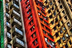 Prime real estate (FredrikN) Tags: china windows building d50 hongkong nikon asia apartment flat hong kong housing block tall hdr dphdr