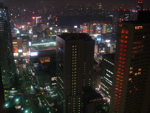 Shinjuku city night scape
