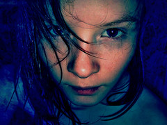 sickness (bye bye ) Tags: light baby selfportrait water strange angel photomanipulation weird kid crazy hurt waves shadows child looking little background empty small innocent young eerie tiny stare sickness staring brightness stupidity bg wethair childish gily diamondclassphotographer flickrdiamond ysplix