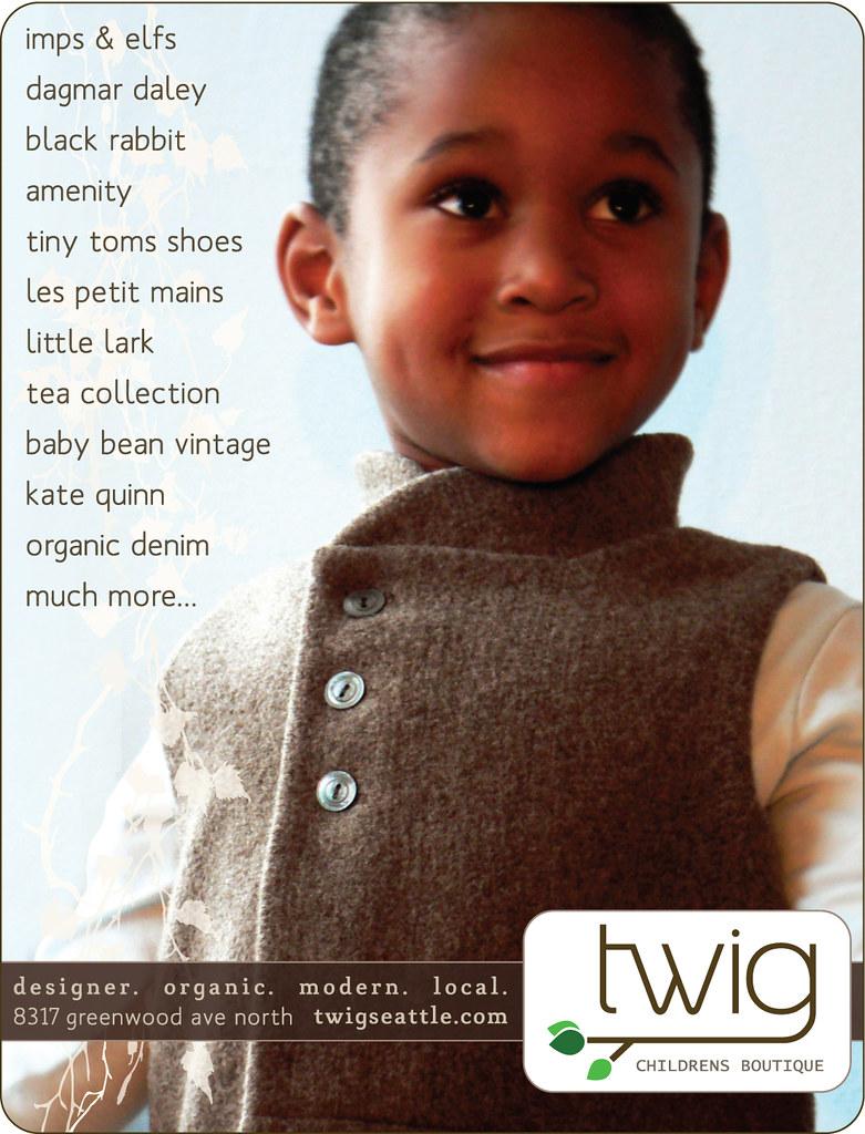 Twig Children's Boutique ad for Sound Magazine
