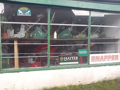 Lawn mower shop (Cheekablue) Tags: window shop ness lawnmover
