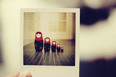 Russian Doll Polaroid ({manda}) Tags: film polaroid sx70 photograph 600 matryoshka russiandolls polaroidsx70