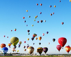 Lots Of Balloons (Marvin Bredel) Tags: sky newmexico balloons colorful bright hotair balloon albuquerque marvin albuquerqueinternationalballoonfiesta marvin908 bredel marvinbredel