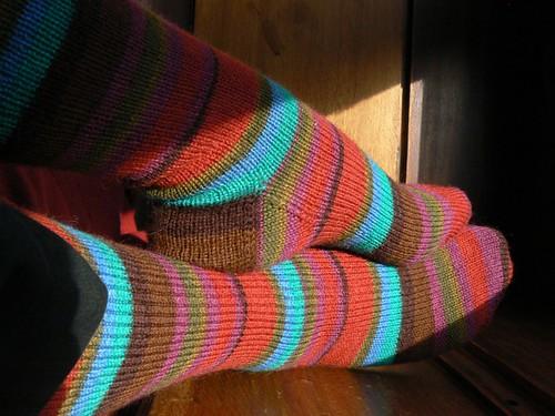 kaffe fassett fire socks FO