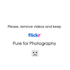 No videos on Flickr!!!
