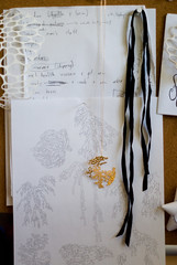 the drawing board (nervous system) Tags: jewelry postcards algae bulletinboard nervoussystem
