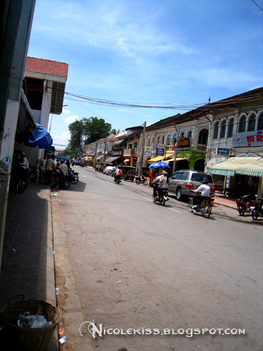 street next to old market siem reap