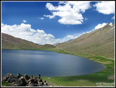 Sheosar Lake (R a S h I d) Tags: blue pakistan sky lake mountains clouds rashid deosai skardu astore sheosarlake golddragon northernareasofpakistan platinumphoto ultimateshot theunforgettablepictures overtheexcellence rashid4u rashidphotography