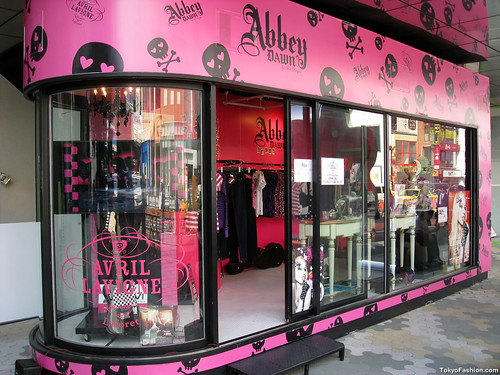 Avril Lavigne Shop in Harajuku by tokyofashion.