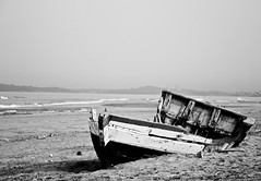 Wrecked Part I (Rahul Varshneya) Tags: ocean sea blackandwhite bw india canon shipwreck wreck