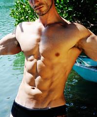 Torso (HE~GOES) Tags: hairy sun lake man hot men guy water muscles beard model arms chest modelos handsome modelo ft torso logan guapo abs springston thebestofday gnneniyisi